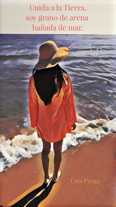 Unida a la Tierra, soy grano de arena bañada de mar. Carolina Luciano S. Bane, Bucket Hat, Earth, Bob, Panama