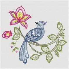 jacobean design | Jacobean Floral Coaster Machine Embroidery Designs Pictures