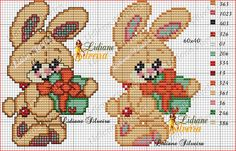 Coelhinho Cross Stitch Bird, Beaded Cross Stitch, Cross Stitching, Cross Stitch Embroidery, Cross Stitch Patterns, Christmas Embroidery Patterns, Easter Cross, Animal Crackers, Christmas Cross