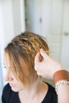 Double Fishtail for Short Hair- Easy Bob or Long Pixie Tutorial