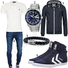 Blaues Herrenoutfit mit Poloshirt, Sneakern und Jacke (m1037) #seiko #hummel #sneaker #jeans #uhr #armband #outfit #style #herrenmode #männermode #fashion #menswear #herren #männer #mode #menstyle #mensfashion #menswear #inspiration #cloth #ootd #herrenoutfit #männeroutfit
