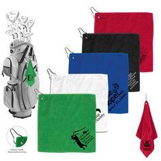 300GSM Microfiber Custom Golf Towel With Metal Grommet and Clip