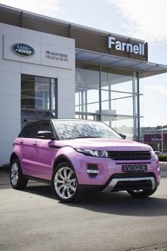 Land Rover Pink Evoque ☆ Girly Cars for Female Drivers! Love Pink Cars ♥ It's the dream car for every girl ALL THINGS PINK! Maybe.
