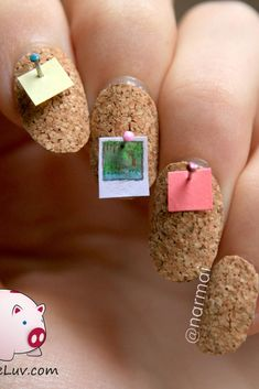Who knew this childhood bedroom staple would make for nail art?