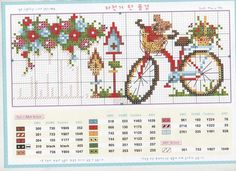 Pretty Cute Bike Cross Stitch