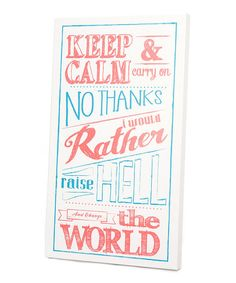 Another great find on #zulily! Pink 'Change the World' Wall Art by Twelve Timbers #zulilyfinds
