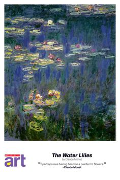 2012/13 Scholastic Art Reproduction (free for subscribers). The Water Lilies: Claude Monet