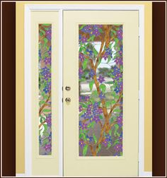Biscayne Stained Glass Window Film - See-Through