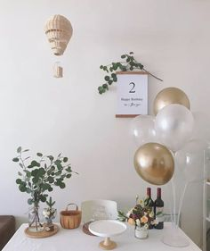 Birthday Decorations At Home, Balloon Decorations Party, Bridal Shower Decorations, Garden Birthday, Diy Birthday, Birthday Party Themes, Metallic Balloons, Confetti Balloons, Birthday Party Photography