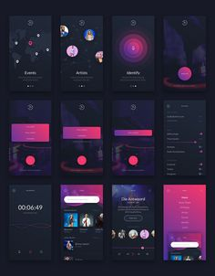 Music UI/UX Mobile App Kit by Creative Form Studio - Entwurf - Web und App Design - Desings World Mobile Ui Design, App Ui Design, Design Design, Flat Design, Studio Design, Site Design, Design Model, Creative Design, Design Trends