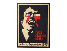 1973 Vintage Poster Nos Duele Chile by ObjectInspirationArt