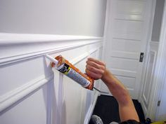 How To Install Wainscoting And Chair Rail - Dream Book Design Home Renovation, Home Remodeling, Installing Wainscoting, Wainscoting Ideas, Moldings And Trim, Moulding, Crown Moldings, Trim Work, Home Upgrades