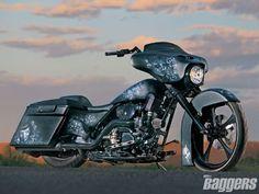 Trask's Slightly Offensive Bagger   2007 Harley Davidson Turbo FLHX - Hot Bike Baggers Magazine