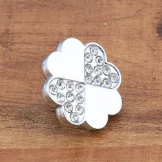 Silver Crystal Knobs / Glass Dresser Knob Drawer Pull Handles / Kitchen Cabinet…