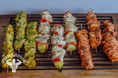 If you're needing to cook chicken in bulk for the weekand want to better measure your portions, try using kebabs