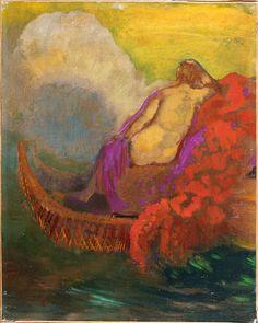 Odilon Redon (French,1840 - 1916) Femme à la barque, N/D