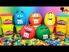 New Learn Colours with Surprise Eggs and a Smarties Rainbow! - YouTube