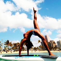 Paddleboard Yoga --- definitely wanna try this one day