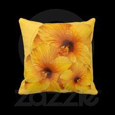 #Orange #Hibiscus #Flower American MoJo #Pillows © #Bluedarkat - on #Zazzle!