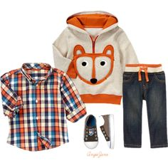 Fox clothes for baby boys Baby Outfits, Outfits Niños, Little Boy Outfits, Toddler Boy Outfits, Kids Outfits, Toddler Boy Clothing, Baby Dresses, Baby Boys, Lil Boy