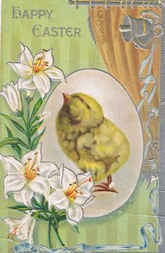 Lilac & Lavender: Vintage Easter postcards (another pin got me to this site - it's full of generously offered vintage printables!)