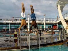Just hanging out in handstands on a cruise