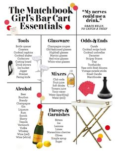 The Matchbook Girl's Bar Cart Essentials