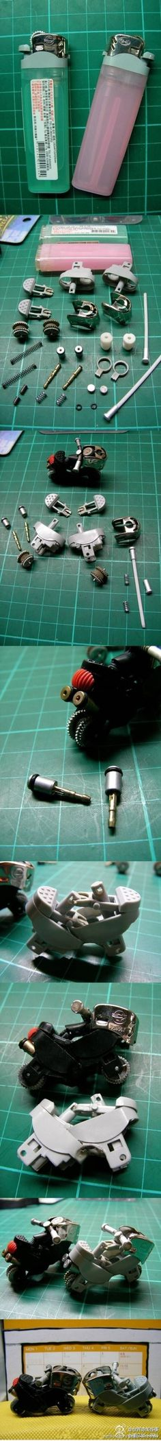 Next time we finish a lighter, so making this motorcycle!