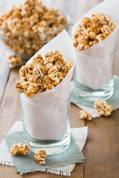 Pumpkin Pie Spice White Chocolate Caramel Popcorn - be warned this stuff is highly addictive! Just like the stuff you get at the store but better since it's made fresh!