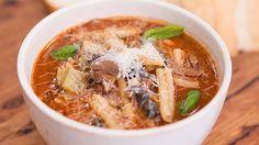 Lentil, Mushroom and Pancetta Casarecce Brodo *