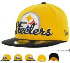 75aa62cfe Cheap Wholesale NFL Script Down 59FIFTY Cap Pittsburgh Steelers Fitted Hats  015 for slae at US