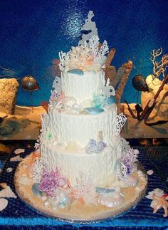 Image detail for -CORAL REEF WEDDING CAKE. PERFECT FOR A BEACH THEMED WEDDING
