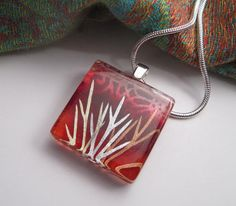 Dill Leaf Necklace by Chaerea on Etsy, $20.00