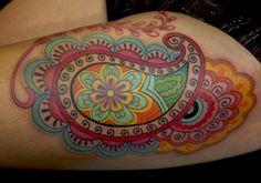 Beautiful paisley tattoo