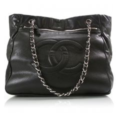 Fashionphile - CHANEL Caviar Large Tote Black ❤ liked on Polyvore