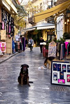 Shops in Plaka, Athens, Greece
