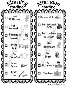 FREE Morning and Bedtime Routine Printable Lists (Perfect