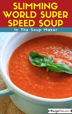 Slimming World Super Speed Soup in the Soup Maker. A delicious filling soup full of Slimming World speed foods and not a Syn in sight. Warm yourself up and serve this with some healthy extra bread or have it as it is. #slimmingworld #synfree #speedfood #soupmaker #soupmakerrecipes Best Vegetable Recipes, Healthy Soup Recipes, Vegetarian Recipes, Cooking Recipes, Celery Recipes, Slimming World Soup Recipes, Slimming World Speed Food, Speed Soup, W Watchers