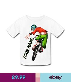 Boys' Clothing (2-16 Years) Bmx Bike Personalised Kids T-Shirt - Great Gift For Any Child & Named Too #ebay #Fashion
