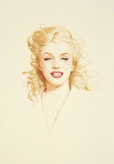 """""""Norma Jeane"""" by Olivia De Berardinis, based on a photo by Andre De Dienes."""