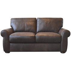 Buy John Lewis Madison Small Cushion Back Leather Sofa Online at johnlewis.com