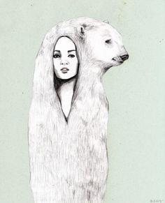 osa polar... - www.facebook.com/pages/Neus-Ilustración/394408147247804 - Fotolog