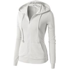 H2H Womens Active Slim Fit Zip Up Long Sleeve Hoodie Jacket ($25) ❤ liked on Polyvore featuring activewear