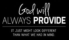 God will provide~