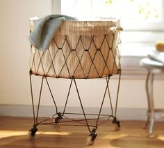 french wire laundry basket - I have one of these!!