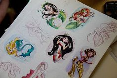 Pencil Drawings by Liana Hee - What's not to love about being a mermaid, besides the pollution of course