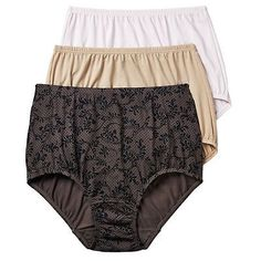 b7204e79bb90 Olga Women's Size 9 XXL Without A Stitch Lace Brief Panty 23173J Black  Dots, Stitch