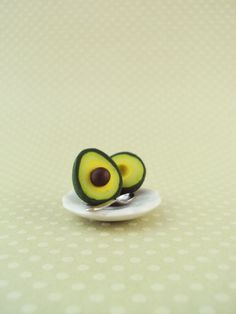 Food Jewelry. Avocado Earrings Polymer Clay Studs // Dessert by MyMiniMunchies, $14.00. Polymer clay charms.