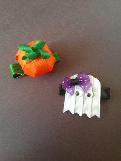 Pumpkin and Ghost ribbon sculpture set by SweetTangerineBoutiq, $6.00
