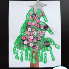 Handprint Christmas Tree {Christmas Crafts for Kids}